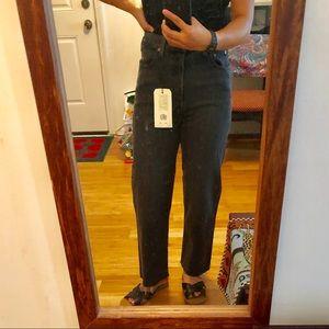 Levi's Premium Ribcage Jeans *reposh* Gray